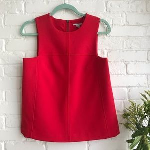 Halogen gorgeous blouse tank top small red